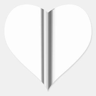 Sticker Cœur Clou en acier