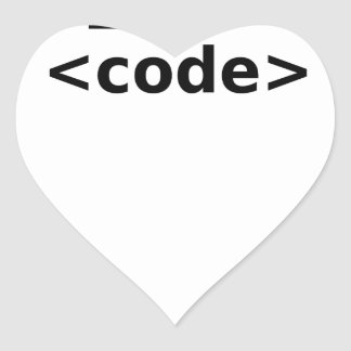 Sticker Cœur Code I <3
