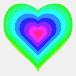 Sticker Cœur Coeur d'arc-en-ciel