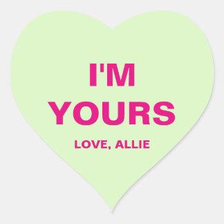 Sticker Cœur Coeur de conversation de Saint-Valentin