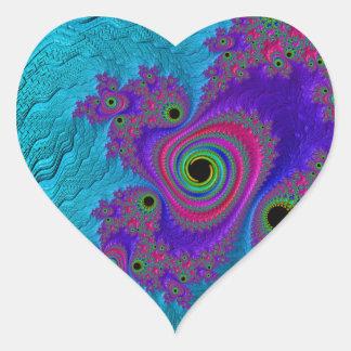 Sticker Cœur Coeur de fractale