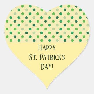 Sticker Cœur Coeur de Jour de la Saint Patrick