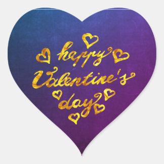 Sticker Cœur Coeur de l'or | de calligraphie de la heureuse