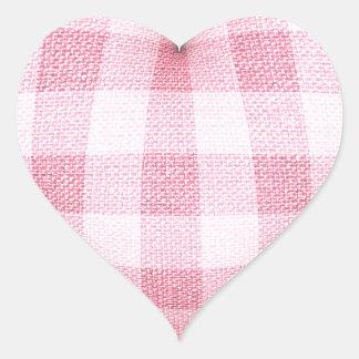 Sticker Cœur Coeur de plaid