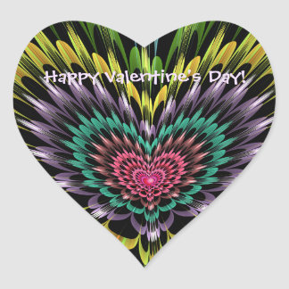 Sticker Cœur Coeur de Saint-Valentin avec le texte fait sur