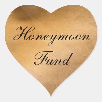 Sticker Cœur Coeur d'en cuivre de fonds de lune de miel