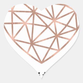 Sticker Cœur Coeur géométrique frappé