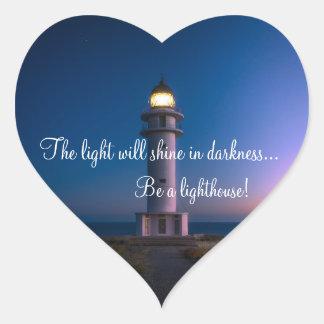 Sticker Cœur Coeur inspiré de phare