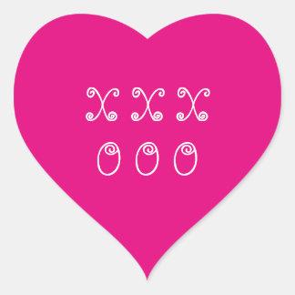 Sticker Cœur Coeur rose d'étreintes et de baisers