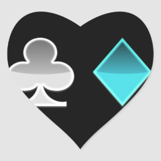 Sticker Cœur coeur trefle carreau pique