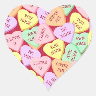 Sticker Cœur Coeurs de sucrerie de Saint-Valentin