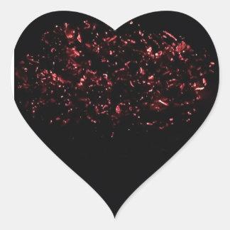 Sticker Cœur Compte chaud de l'autocollant 20 de coeur de