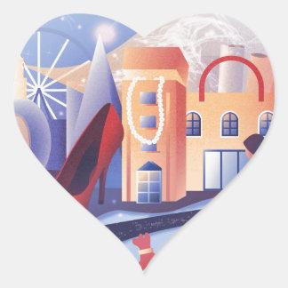 Sticker Cœur Compte de achat vers le bas