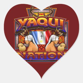 Sticker Cœur Conception de danseur de cerfs communs de drapeau