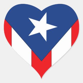 Sticker Cœur Conception de drapeau de Puerto Rico2 -