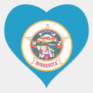 Sticker Cœur Conception de drapeau du MINNESOTA -