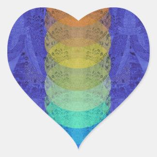 Sticker Cœur Conception de tapisserie de Chakra de yoga