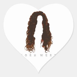 Sticker Cœur Conception des cheveux de Josh