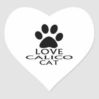 STICKER CŒUR CONCEPTIONS DE CAT DE CALICOT D'AMOUR