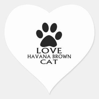STICKER CŒUR CONCEPTIONS DE CAT DE LA HAVANE BROWN D'AMOUR