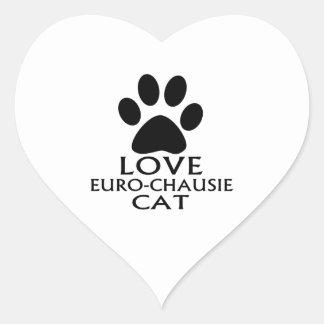 STICKER CŒUR CONCEPTIONS DE CAT DE L'AMOUR EURO-CHAUSIE
