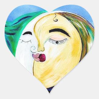 Sticker Cœur Connexion rêveuse d'amour