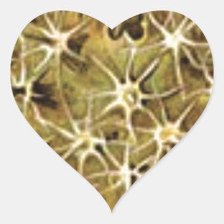 Sticker Cœur connexions de cerveau visualisées