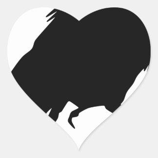 Sticker Cœur Corneille mauvaise