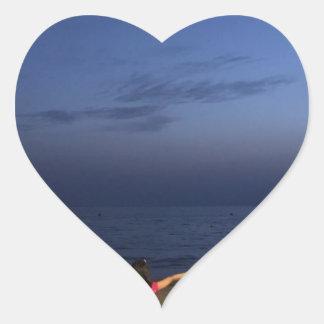 Sticker Cœur Coucher du soleil de l'Espagne