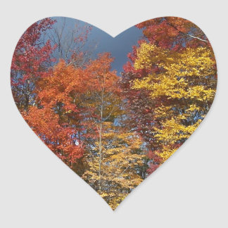 Sticker Cœur Couleurs de chute dans Blue Ridge Mountains