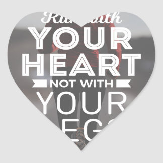 Sticker Cœur Courez avec votre coeur