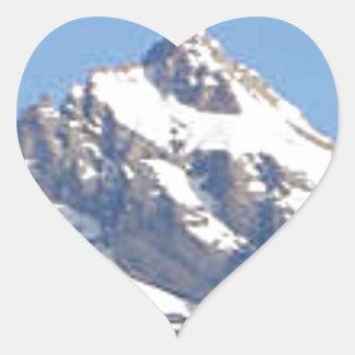 Sticker Cœur crête centrale dans la gamme