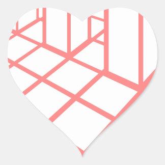 Sticker Cœur Croissance de diagramme