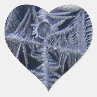 Sticker Cœur croix d'étoile de glace