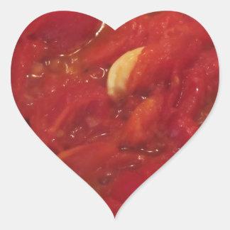 Sticker Cœur Cuisson de la sauce tomate faite maison