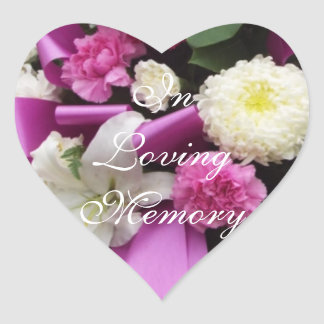 Sticker Cœur Dans la mémoire affectueuse