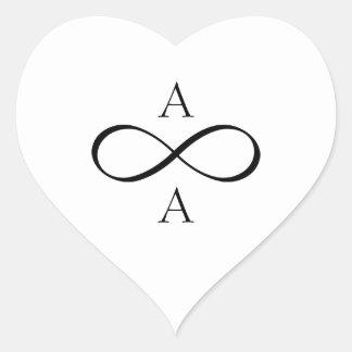 Sticker Cœur De jeunes mariés infini pour toujours