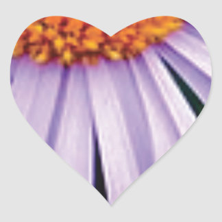 Sticker Cœur demi d'art de fleur