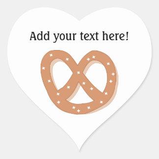 Sticker Cœur Des bretzels d'amour - personnalisez ce graphique
