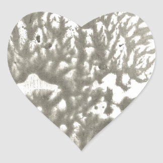 Sticker Cœur Désert en métal