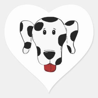 Sticker Cœur Dessin dalmatien de chien