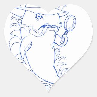 Sticker Cœur Dessin révélateur d'épaulard d'orque