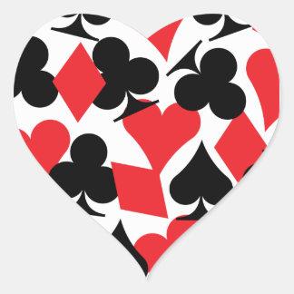 Sticker Cœur Destin Las Vegas épousant l'autocollant de coeur
