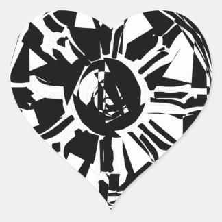 Sticker Cœur dharma