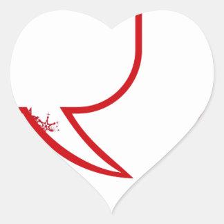 Sticker Cœur Dire du père noël