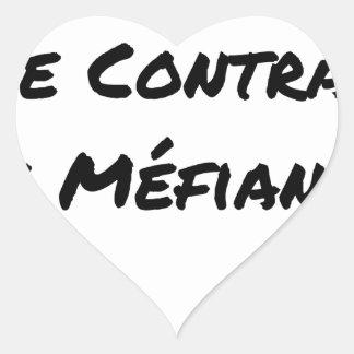 Sticker Cœur DIRTY, LE CONTRAT DE MÉFIANCE - Jeux de mots