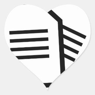 Sticker Cœur Documents sur papier