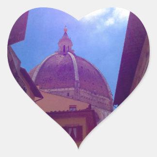 Sticker Cœur Dôme de Brunelleschi à Florence, Italie
