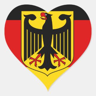 Sticker Cœur Drapeau allemand