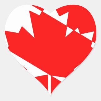Sticker Cœur Drapeau canadien de plongeur autonome